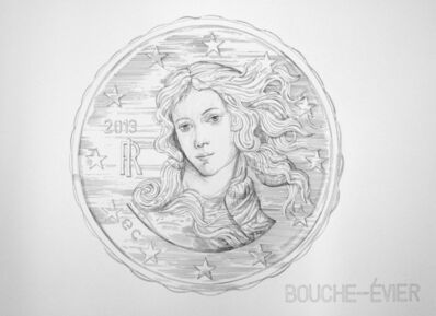 Ergin Cavusoglu, 'BOUCHE-ÉVIER (DRAIN STOPPER - 10 EURO CENT)'