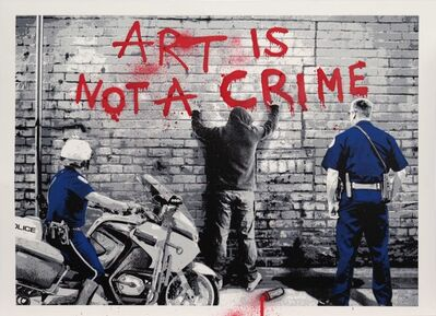 Mr. Brainwash, 'Art is Not a Crime', 2013