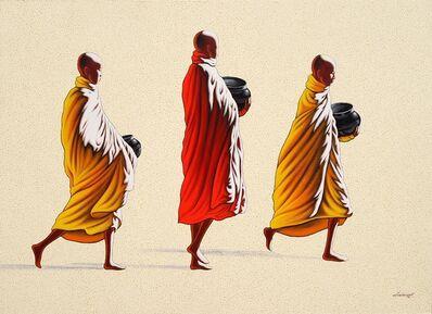 Min Wae Aung, 'Towards Monastery (1)', 2014