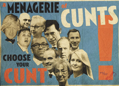 Billy Childish, 'A Menagerie of C*nts', 2019