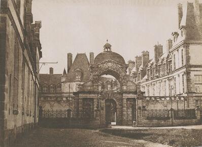 Gustave Le Gray, 'Château de Fontainebleau, la porte du baptistère de la cour ovale, vue depuis la cour des offices', 1850c/1850c