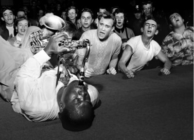Bob Willoughby, 'Big Jay McNeely drives the crowd wild at the Olympic Auditorium, downtown Los Angeles', 1951