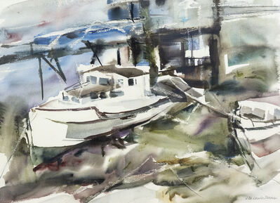 Lila Lewis Irving, 'Boats, Wharf North Head Grand Manon', 1980s