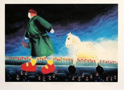 MacKenzie Thorpe, 'Walking the Horse', 1997