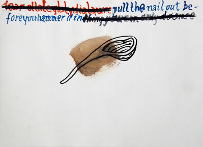 Klaas Vanhee, 'Dearellaleylalydialaure (pulling the nail out before you hammer it in)', 2018
