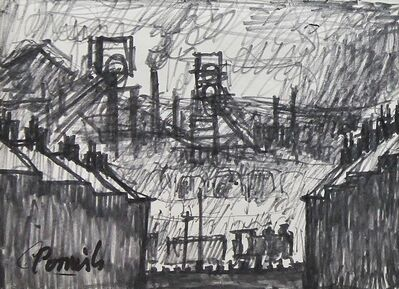 Norman Cornish, 'Dean and Chapter Colliery from Ferryhill', ca. 1964