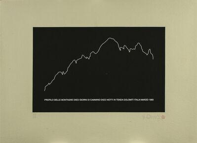 Hamish Fulton, 'Profilo delle Montagne', 1993