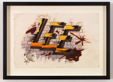 Lee Quinones, 'Lee Letter Study (HowardTheDuck)', 1978