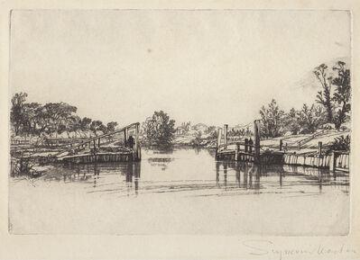Francis Seymour Haden, 'Egham lock', 1859