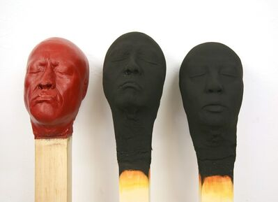 Wolfgang Stiller, 'Group of Three Matchstickmen', 2018