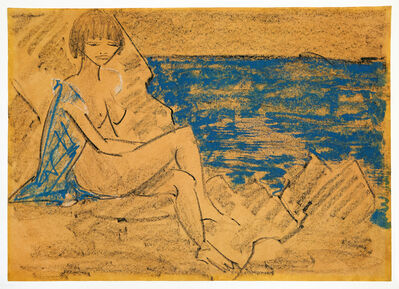 Otto Mueller, 'Sitzender Frauenakt an einem Gewässer / Sitzender Akt', ca. 1927
