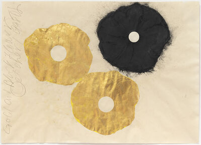 Donald Sultan, 'Gold and Black Flower, 1 September', 1998