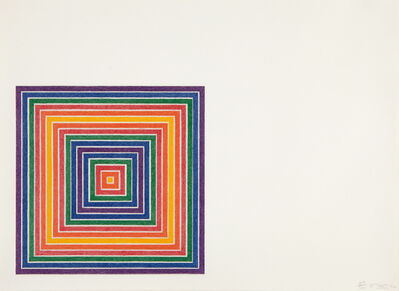Frank Stella, 'Honduras Lottery Co., from Multicolored Squares', 1972