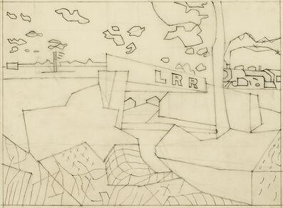 "Stuart Davis, 'Study for ""Railroad Bridge""', 1940"