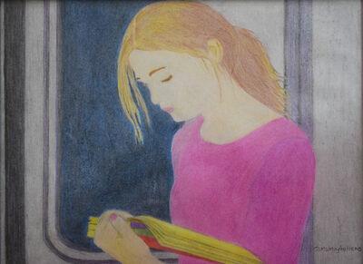 Maybellene Gonzalez, 'Woman Reading on the Train', 2020