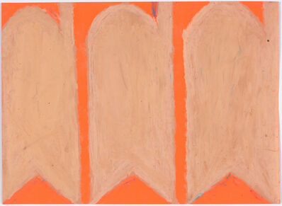 Evelyn Reyes, 'Carrots, Peach (Mixed on Orange)', 2004-2009