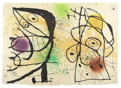 Joan Miró, 'Le Courtisan Grotesque: Plate III', 1974