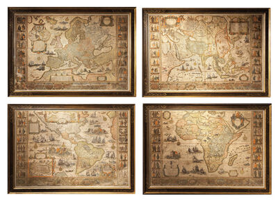 Willem Blaeu, '[Set of the maps of the four continents].', ca. 1646