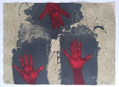 Rufino Tamayo, 'Manos Sobre Fondo Azul ', 1979