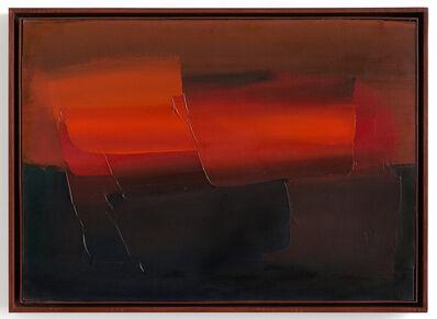 Alfredo Chighine, 'Barca e cielo rosso', 1962