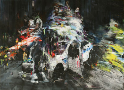 Li Tianbing, 'Occupation on the Car', 2018