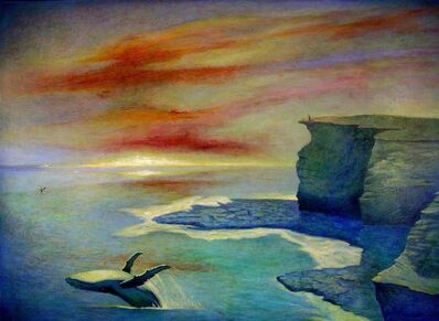 Bob Marchant, 'Viewing whales breaching', 2001