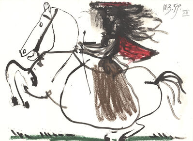 Pablo Picasso, 'Equestrian', 1959