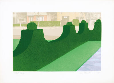 Ivor Abrahams, 'Privacy Plot: Hedge and Street', 1970