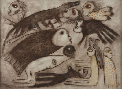 Manuel Mendive, 'Para el Ojo que Mira', 1986
