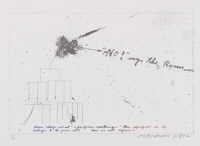 Shusaku Arakawa, 'No! says the room', 1972