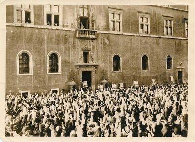 Unknown, 'Mussolin's Speech in Piazza Venezia', 1938