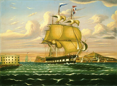 Thomas Chambers, 'Packet Ship Passing Castle Williams, New York Harbor', mid 19th century