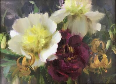 "Daniel Keys, '""Paris Peonies and Tiger Lillies""', 2018"
