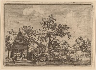 Allart van Everdingen, 'Two Casks in Front of a Cottage', probably c. 1645/1656