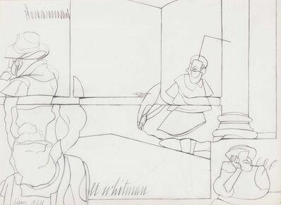 Valerio Adami, 'Walt Whitman', 1978