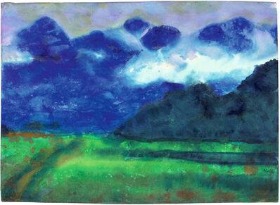 Emil Nolde, 'Schweizer Berge', ca. 1930