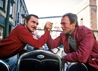 Harry Benson, 'Clint Eastwood & Burt Reynolds, LA', 1984