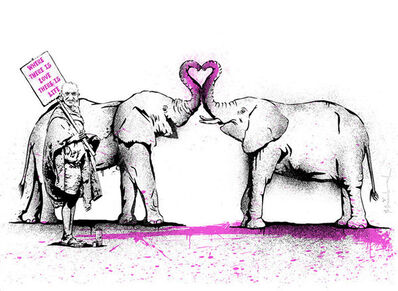 Mr. Brainwash, 'WHERE THERE IS LOVE, THERE IS LIFE', 2011