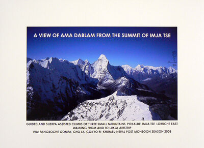 Hamish Fulton, 'A View of Ama Dablam from the Summit of Imjatse, 2008', 2008
