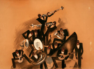 PAUL COLIN, '11-PIECE BLACK JAZZ BAND - MAQUETTE - PROBABLY FOR TUMULT NOIR', 1925