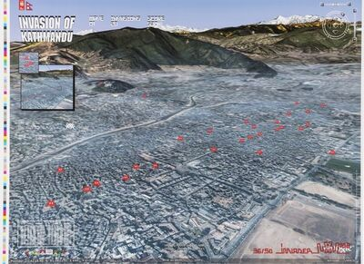 Invader, 'Kathmandu map', 2008