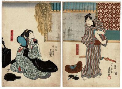 Utagawa Toyokuni III (Utagawa Kunisada), 'Hayano Kampei and Okaru', 1849
