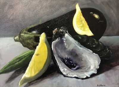 Billy Solitario, 'Eggplant & Oyster Shell', 2020