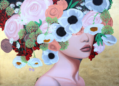 Sally K, 'Gold Poppies', 2019
