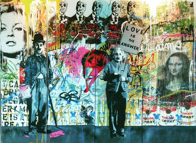 Mr. Brainwash, 'Juxtapose- Monumental 4-Panel', 2014
