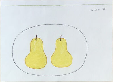 William Scott, 'Two Pears', 1975