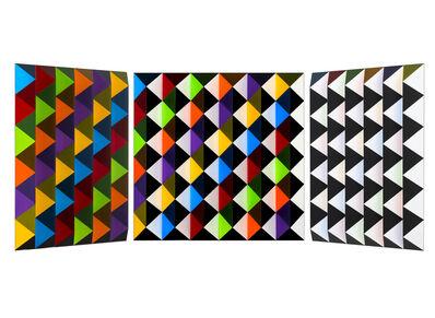 Roland Helmer, 'V62 - bunt/unbunt, diagonal-hellgelb ', 2015