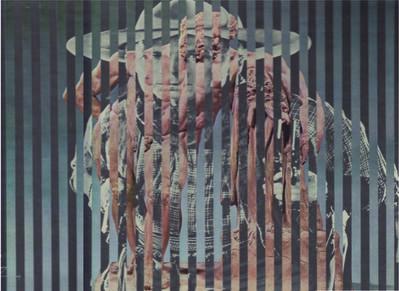 Jirí Kolár, 'Sans titre, du cycle Hommage aux vedettes du cinéma', 1965