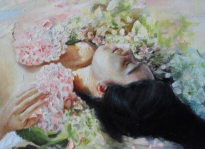 Lali Garcia Almeyda, 'Portrait study with flowers 1', 2021