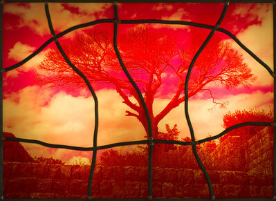 Sarkis, 'Red stained glass series No: 7', 2020